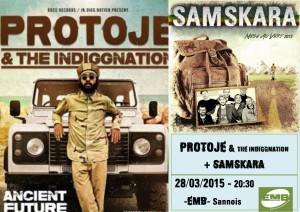 Protoje + Samskara @l'EMB le 28/03/15