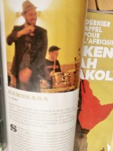"""On vous donne rendez-vous en page 13 de l'excellent magazine """"Reggae Vibes""""#36.  Un focus sur le groupe vous attend, de la genèse jusqu'à la réalisation du 1er Album """"Mise Au Vert""""...  (Big Up Simba et Gilbert pour l'intérêt qu'il portent à Samskara !)"""
