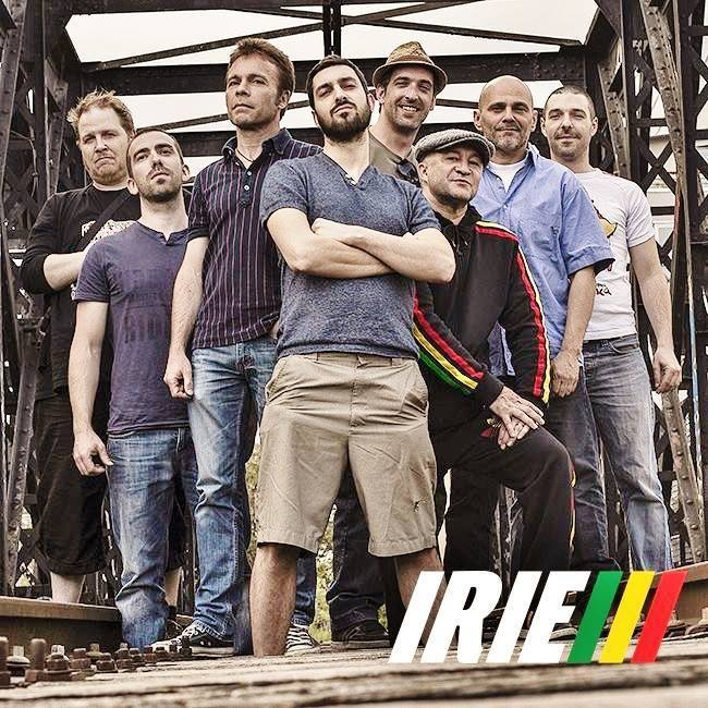 De gauche à droite : Oliv'Biggy / Bassie'Yann / Jean-Seb Saxo / M-Syla / Vince'Guitsy / Lionel'Key / Beucet Percu / GhilouBwoy Trumpett