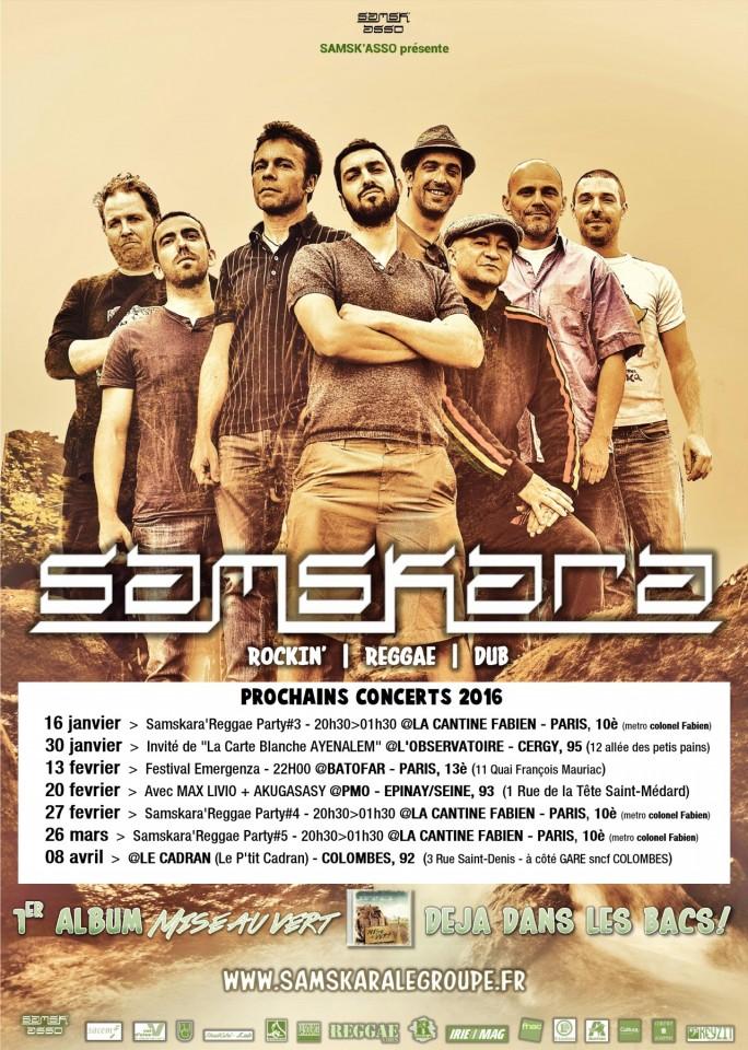 Affiche officielle SAMSKARA premières dates 2016