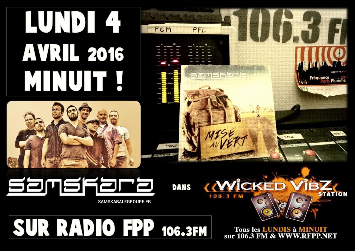 Retrouvez M-Syla (Chanteur de Samskara) pour représenter la team LUNDI 4 AVRIL à MINUIT !!! 106.3FM /WWW.RFPP.NET
