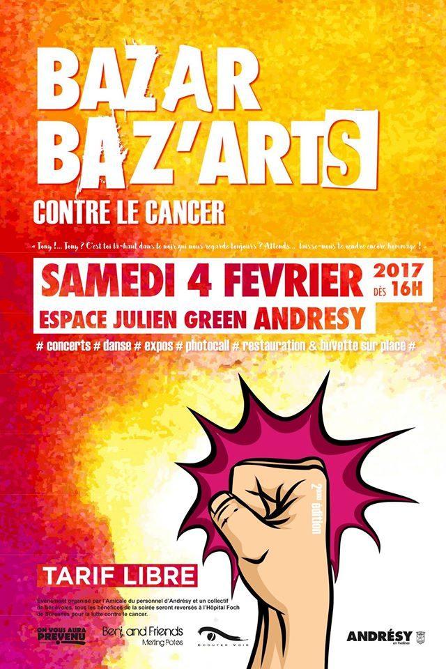 soirée caritative 100% bénévoles avec plusieurs artistes (Samskara, Riom, Milou Leiz, ... ) toutes les entrées seront reversées à la recherche contre le cancer.